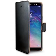 CELLY Pouzdro typu kniha Wallet Galaxy A6 (2018), černé