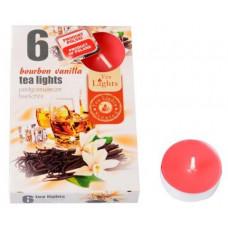 ADMIT svíčka čajová vonná BOURBON VANILKA (6ks) (hoří 6x3-4hod)