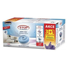 CERESIT náplň do pohlcovače vlhkosti CSV-AERO 360, 4x450g tableta, levandule