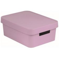 CURVER box úložný INFINITY 36,3x27x13,8cm s víkem, PH RŮŽ