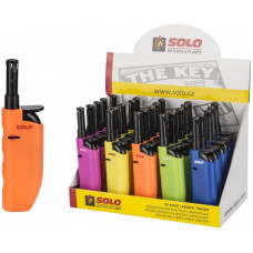 SOLO zapalovač SOLO 12cm plamínkový mix barev