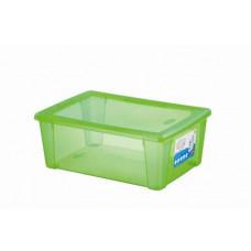 STEFANPLAST box úložný SCATOLA 10l, 36,5x25,5x14cm s víkem PH ZE
