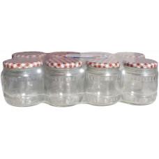 sklenice zavařovací  480ml TWIST 82 + víčka KANAFAS(8ks)