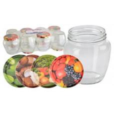 sklenice zavařovací  550ml TWIST 82 + víčka mix (8ks)
