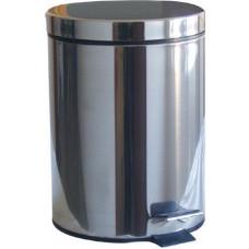 koš odpadkový nášlapný 12l kulatý nerez, s vložkou PH
