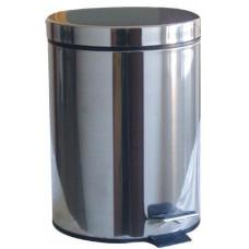 koš odpadkový nášlapný  5l kulatý nerez, s vložkou PH