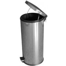 koš odpadkový nášlapný 30l kulatý nerez, s vložkou PH