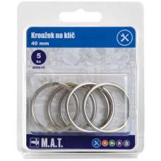 kroužek na klíč 40mm Ni    (5ks)