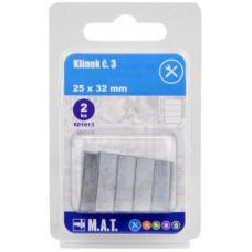 klínek č.3, 25x32mm  (2ks)