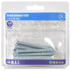 šroub kotevní 7,5x 82mm TX30 ZB (10ks)