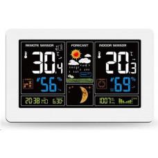 Solight TE81W meteostanice, extra velký barevný LCD, teplota, vlhkost, tlak, RCC, USB nabíjení
