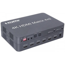 PREMIUMCORD HDMI matrix switch 4:2 s audiem, rozlišení 4Kx2K