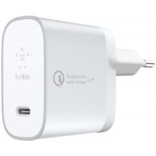 Belkin USB-C 230V nabíječka 27W + USB-C kabel s Quick Charge 4+ - bílá