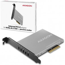 AXAGO  PCEM2-NC, PCIe x4 - M.2 NVMe M-key slot adaptér, pasivní chladič