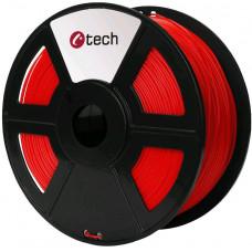 C-TECH Tisková struna (filament) C-TECH, PLA, 1,75mm, 1kg, červená