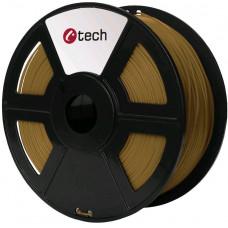 C-TECH Tisková struna (filament) C-TECH, PLA, 1,75mm, 1kg, hnědá