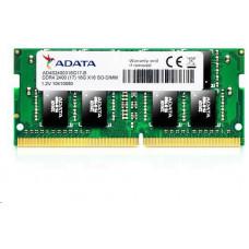 A-Data SODIMM DDR4 8GB 2400MHz CL17 ADATA Premier memory, 1024x8, Single