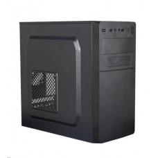 Eurocase skříň MC X204 EVO black, micro tower, 1x USB 3.0, 2x USB 1.0, bez zdroje