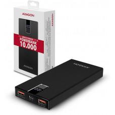 AXAGO  PWB-L10QC, ALU SLIM Powerbanka Li-pol 10000mAh, 2x QC3.0 výstup, Type-C vstup, LCD displej