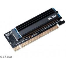 AKASA adaptér M.2 do PCIex s chladičem LP