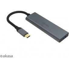 AKASA - externí USB hub - USB typ-C na 4 x USB 3.0