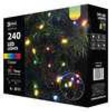 EMOS Vánoční řetěz 240 LED - 24m, barevná+časovač