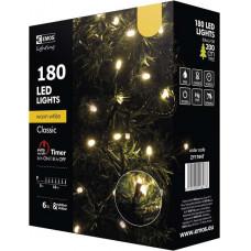 EMOS Vánoční řetěz 180 LED, 18m, teplá bílá + časovač