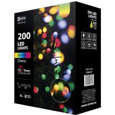EMOS Vánoční řetěz 200LED-kuličky,20m,MULTICOLOR+časova