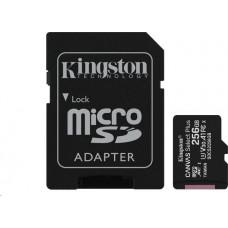 KINGSTON 256GB microSDXC Kingston Canvas Select Plus  A1 CL10 100MB/s + adapter