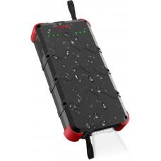 OUTXE Rugged IP67 Voděodolný Solární Wireless PowerBank 20000mAh Black/Red