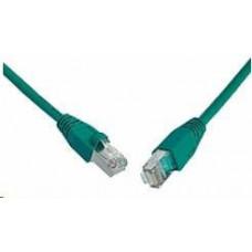 Solarix Patch kabel CAT6 SFTP PVC 10m zelený snag-proof C6-315GR-10MB