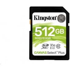 KINGSTON 512GB SDXC Kingston Canvas Select Plus U1 V10 CL10 100MB/s