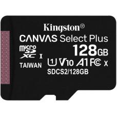 KINGSTON 128GB microSDXC Kingston Canvas Select Plus  A1 CL10 100MB/s bez adapteru