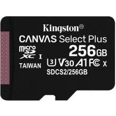 KINGSTON 256GB microSDXC Kingston Canvas Select Plus  A1 CL10 100MB/s bez adapteru
