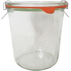sklenice zavařovací 850ml WECK + víčko, těsnění, 2 spony