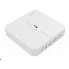 Uniview NVR, 4 kanály, H.265, 1x HDD (max.8TB), HDMI, 2x USB 2.0, audio, ONVIF