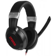 Crono Arch HES-02 Herní sluchátka s mikrofonem, 2x 3,5 mm Stereo jack, černá