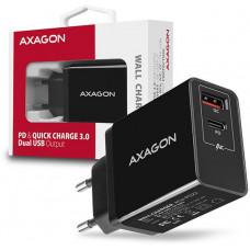 AXAGO  ACU-PQ22, PD a QUICK nabíječka do sítě, 2x port QC3.0/AFC/FCP + PD type-C, 22W