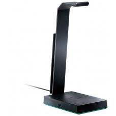 Cooler Master GS750  Stojánek pro sluchátka, Qi nabíjení, USB 3.0, RGB, 7.1 Surround sound, černá