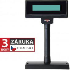 VIRTUOS LCD zákaznický displej Virtuos FL-2024MW 2x20, serial (RS-232), 12V, černý