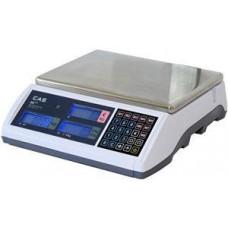 CAS Váha CASER-PLUS15L,LCD na váze,RS232,6/15kg,2/5g