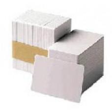 ZEBRA Premier (PVC) Blank White Cards,Card, 30 mil,500ks