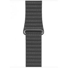 APPLE Watch Acc/44/Black Leather Loop - Medium