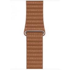 APPLE Watch Acc/44/Saddle Brown Leather Loop - Large