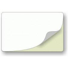 ZEBRA Bílé samolepící plastové karty - 500ks