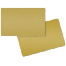 ZEBRA COLOR PVC CARD - GOLD METALLIC, 30 MIL (500 CARDS)
