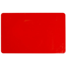 ZEBRA COLOR PVC CARD - RED, 30 MIL (500 CARDS)