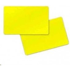 ZEBRA Premier (PVC) Yelow Cards,Card, 30 mil,500ks
