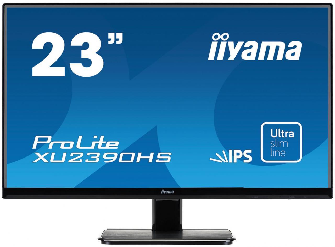 """IIYAMA 23""""LCD iiyama XU2390HS - IPS, 5ms, 250cd/m2, FullHD, VGA, HDMI, DVI, repro (XU2390HS-B1)"""