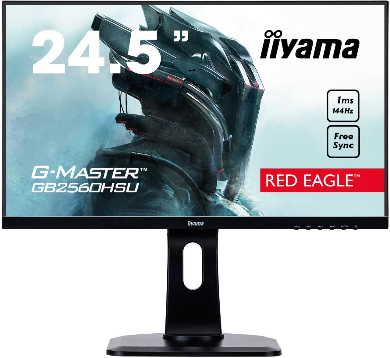 """IIYAMA 25"""" iiyama G-Master GB2560HSU-B1 - TN,FullHD,1ms,400cd/m2 (GB2560HSU-B1)"""